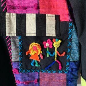 Vintage 80s 90s patchwork wearable art jacket